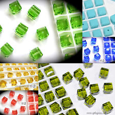 SALE! Authentic #5601 Swarovski Crystal Cube Square Beads assorted colors 10pcs