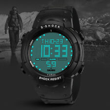 Men Watch Waterproof Casual Digital Watch LCD Sport Date Silicone Wrist Watch