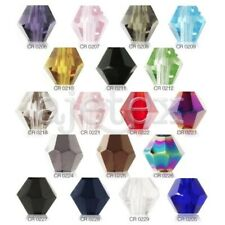 120pcs Lots Faceted Crystal Bicone Beads Bracelet Necklace DIY Jewelry 4mm