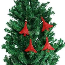 10pcs Glitter Bell Star Shape Christmas Tree Decoration Hanger Ornaments