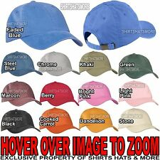 Mens Pigment Dyed Garment Wash Baseball Cap Unstructured Hat Low Profile NEW!