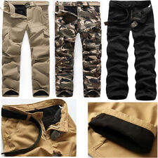 NEW FASHION MENS ARMY CARGO COMBAT WORK PANTS CASUAL CAMO MILITARY LONG TROUSERS