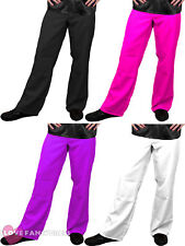 MENS DISCO FLARES ADULT 70S FLARED TROUSERS FANCY DRESS COSTUME 60S 1970S S-XXL