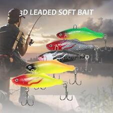 2pcs PVC Sub Soft Fishing Lure Pike Salmon Baits Bass Trout Fish Hook SetAC H6P1