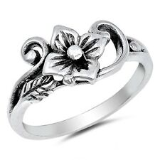 NEW! 925 Sterling Silver Flower and Vine Ring Sizes 4-10