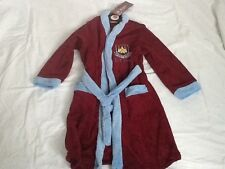 Kids Official New WEST HAM 1895 Hammers Warm Fleece Dressing Gown Ages 3-12