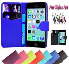 Magnetic Wallet Flip Pu Leather Case Cover Holder Stand Fits Apple iPhone 4 4S