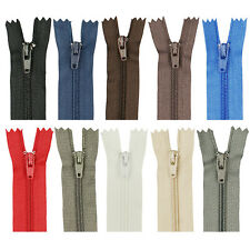 Lot 5/50pcs Useful Assorted Upholstery Craft Nylon Metal Closed Open Ended Zips