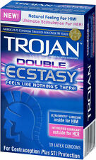Trojan Double Ecstasy Condoms - Choose Quantity