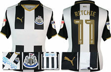 *16 / 17 - PUMA ; NEWCASTLE UNITED HOME SHIRT SS / RITCHIE 11 = KIDS SIZE*