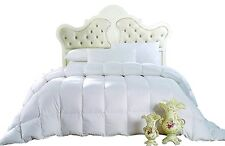 Oversized Damask Stripe Warm & Cozy Elegant White Royal Down Comforter