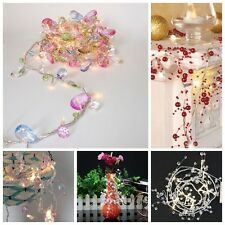 Colorful Crystal / Pearly lustre Bead Leds Garland String Light Battery Operated