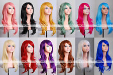 "28"" 70cm Long Hair Heat Resistant Spiral Curly Cosplay Wig 8 Colors"