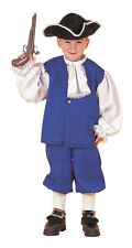 Colonial Boy Child Halloween Costume US American History Blue Fancy Dress 54148