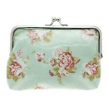 Ladies Forever England Mint Green Floral Coin Purse with Clasp Fastening LP70881