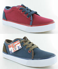 Boys Lambretta Canvas Lace Up Plimsolls / Casual Shoes with Chunky Sole SIMBA