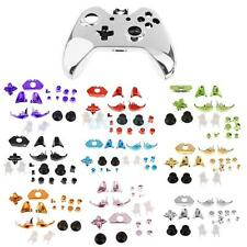 Full Housing Shell Cover Case Silver + Trigger Buttons for Xbox One Controller