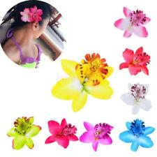 Fabric Orchid Flower Hair Clip Bridal Wedding Hawaii Party Hair Accessories