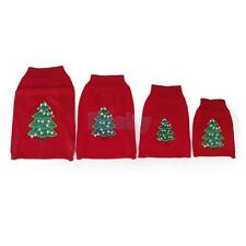 Pet Dog Puppy Christmas Tree Knit Sweater Apparel Clothing Knitwear XS-L