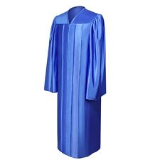 Royal Blue Graduation Gown – Shiny Fabric, All Sizes