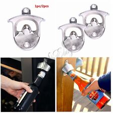Professional Wall Mounted Stand Up Bar Pub Bottle Opener Cap Catcher Mountable