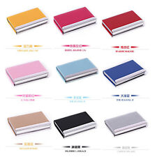 Stainless steel Leather Business Credit ID Card Holder Cases Wallet Gift fashion