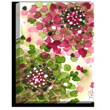 DiaNoche Designs 'Hydrangea' by Dawn Derman Painting Print on Wrapped Canvas