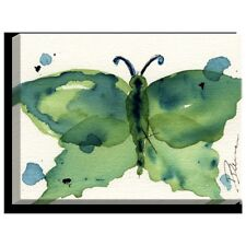 DiaNoche Designs 'Moth III' by Dawn Derman Painting Print on Wrapped Canvas