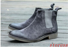 England Men Chelsea Boot Suede Army Motocycle Boots Shoes Ankle Boots Size NEW