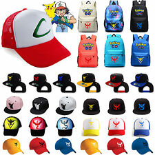 Pokemon GO Cap/Backpack Team Valor Instinct Mystic Nerd School Bag Baseball Hats