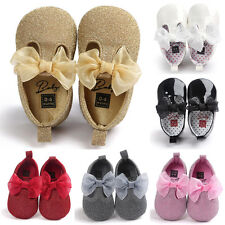 Baby Soft Sole Leather Mini Shoes Newborn Girl Toddler Moccasin Prewalker Gift