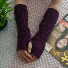 Knitted Gloves Long Arm Glove Warmer Wool Fingerless Ankle Glove Half Sleeves