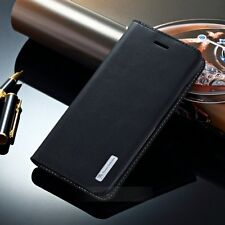 Luxury Genuine Leather Case Flip Wallet Stand Cover Holder For iPhone/Samsung Y