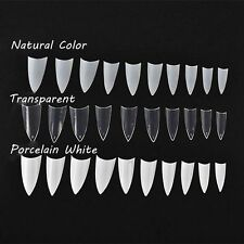 Women Clear/Natural White False Nail Art Tips Acrylic UV Gel Manicure Tools