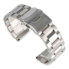 18/20/22/24mm Silver Solid Stainless Steel  Watch Band Men Wrist Strap Bracelet