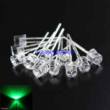 100 LEDS 5MM Flat Green Wide Angle Urtal Bright Light Bulb Lamp Emitting Diodes