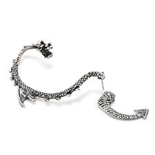 Dragon Snake Design 2 Pcs Women's Ear Cuff Punk Clip Wrap Gothic Stud Earring