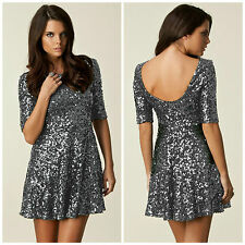 BNWT French Connection FCUK Sequin NEW £190 Party Sexy Evening Club Skater Dress