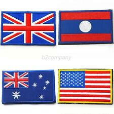Trendy Nation National Flag Emblem Patch Embroidered Country Sew Trim Patch B68