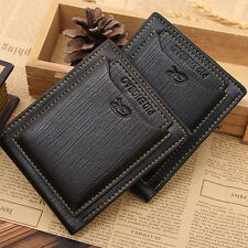 Mens Genuine Leather Bifold Wallet Credit ID Card Holder Slim Money Purse
