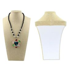 Brand New Velvet Necklace Pendant Chain Jewelry Bust Display Holder Stand O4