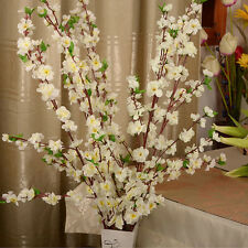 "50"". Artificial Blossom Branch Silk Flower Cherry Spring Plum Peach Craft Decor"