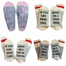 Funny Sock - Wine Socks - If You Can Read This Bring Me A Glass Of Wine Fashion