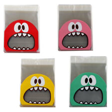 Cute Monster Self-Adhesive Cookie Party Candy Wrapping Gift Seal Bag 4 Colors