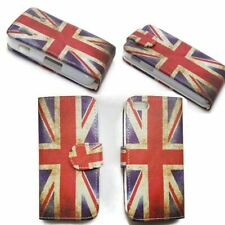 Book Flip Case Cover Vertical Horizontal Classic Burning Union Jack For Samsung