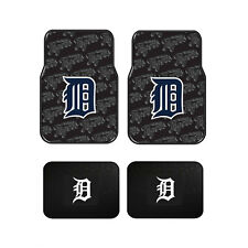 New Set MLB Detroit Tigers Car Truck Front / Back All Weather Rubber Floor Mats