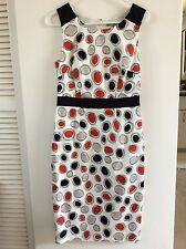 Brand new Marks & Spencer Size 8, Dress fully lined, White, Red and Black