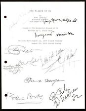 THE WIZARD OF OZ SCRIPT SIGNED  RPT JUDY GARLAND RAY BOLGER BURT LAHR + FREE