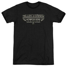 Sons Of Anarchy Teller Morrow Mens Adult Heather Ringer Shirt Black