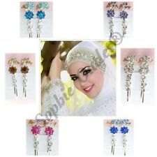 2 x Stunning Quality Hijab Pin Hair pin Hair Clip Crystal pin Scarf Saree pin 02